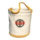 "12"" x 15"" LEATHER BOTTOM CANVAS TOOL BUCKET"