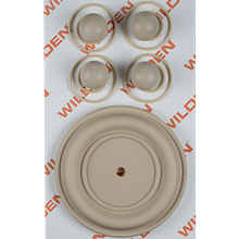 "Wilden Wet Repair Kit, 2"" Bolted Plastic, Santoprene"