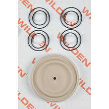 "Wilden Wet Repair Kit, 1"" Bolted Plastic, PTFE"