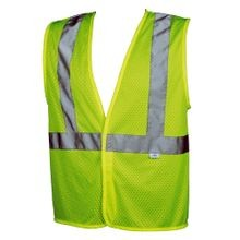 LIME GREEN SAFETY VEST, MESH