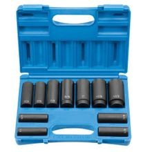 11 PIECE: 8-POINT DEEP IMPACT SOCKET SET