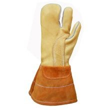 ONE FINGER  BUCKSKIN WORK MITTENS