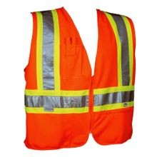 ORANGE SAFETY VEST, MESH BACK