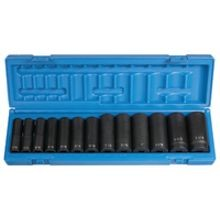 13 PIECE: 6-Point DEEP IMPACT SOCKET SET
