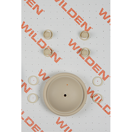 "Wilden Wet Repair Kit, 0.5"" Clamped Metal, Santoprene"