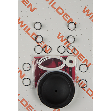 "Wilden Wet Repair Kit, 0.5"" Bolted Plastic, PTFE"