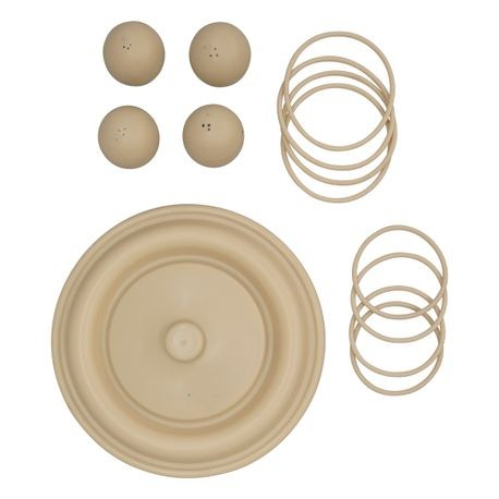 "Wilden Wet Repair Kit, 3"" Bolted Plastic, Santoprene®"