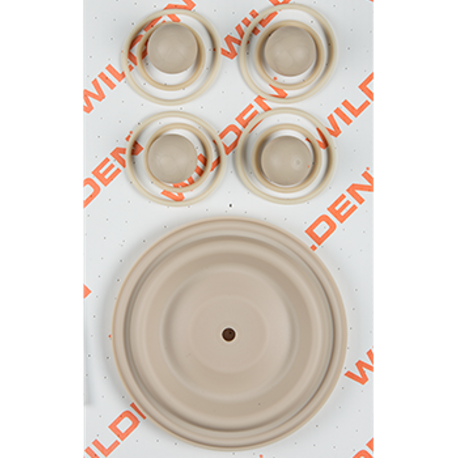 "Wilden Wet Repair Kit, 1.5"" Bolted Plastic, Santoprene"