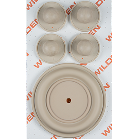 "Wilden Wet Repair Kit, 1.5"" Bolted Metal, Santoprene®"