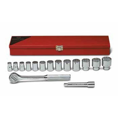 15 Piece: 12-Point Standard Socket Set