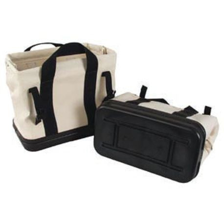 "15"" X 8"" X 13"" CANVAS GEAR BAG WITH MOLDED RUBBER BOTTOM"