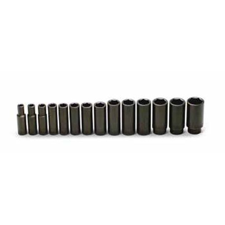 14 Piece: 6-Point Deep Impact Socket Set