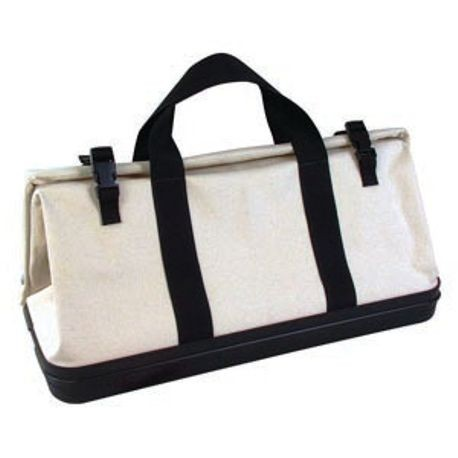 "24"" X 10"" X 14"" CANVAS GEAR BAG WITH MOLDED RUBBER BOTTOM"