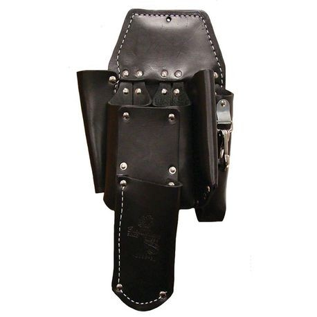 5 POCKET DOUBLE BACK LINEMAN'S HOLSTER-BURGANDY